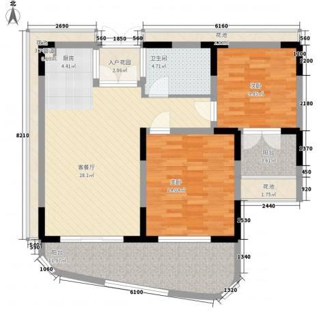 五指山圣河湾2室1厅1卫0厨97.20㎡户型图