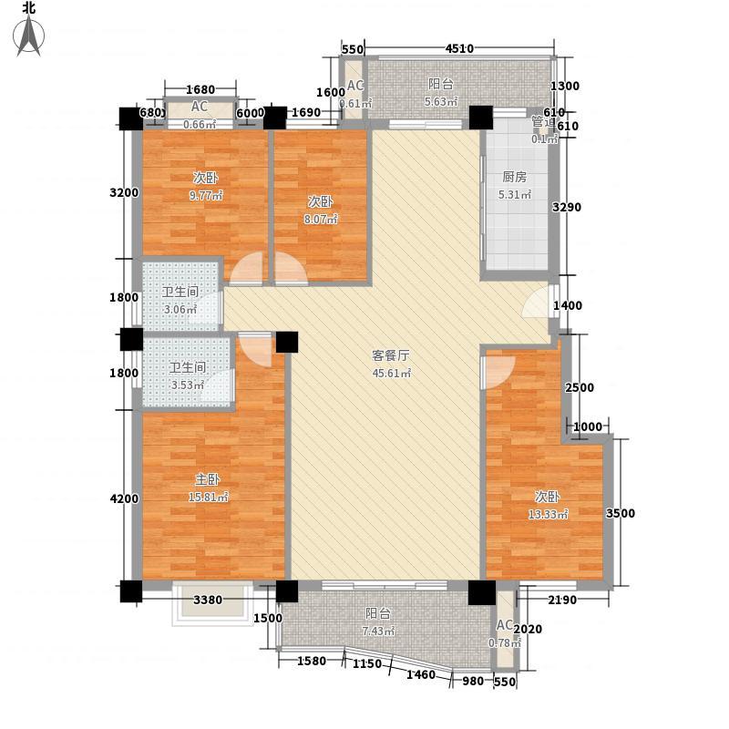 江南名城141.15㎡江南名城户型图4室2厅2卫户型10室
