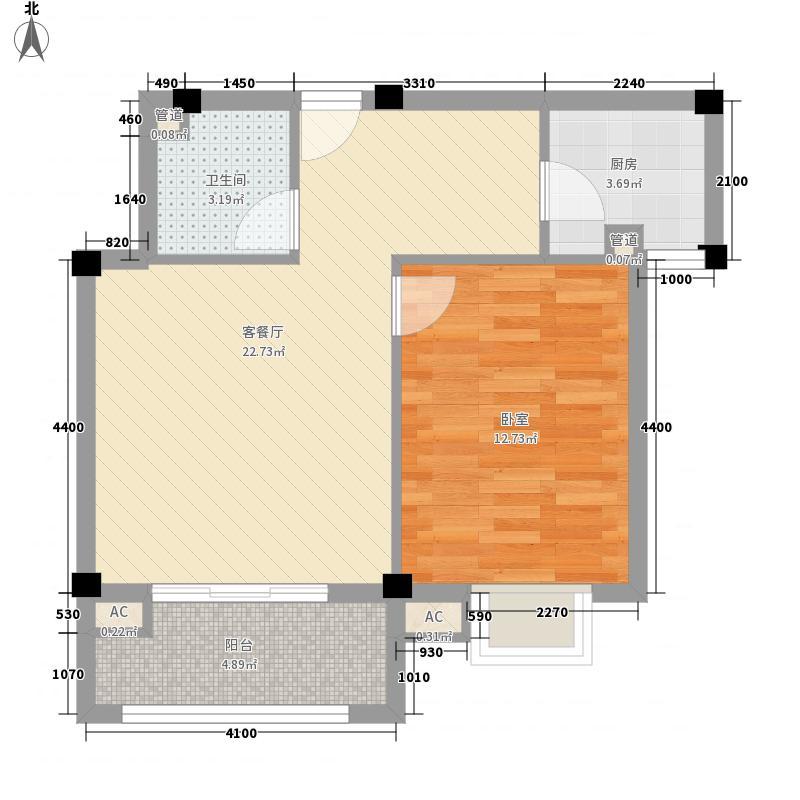 东源北院60.00㎡B户型1室1厅1卫1厨