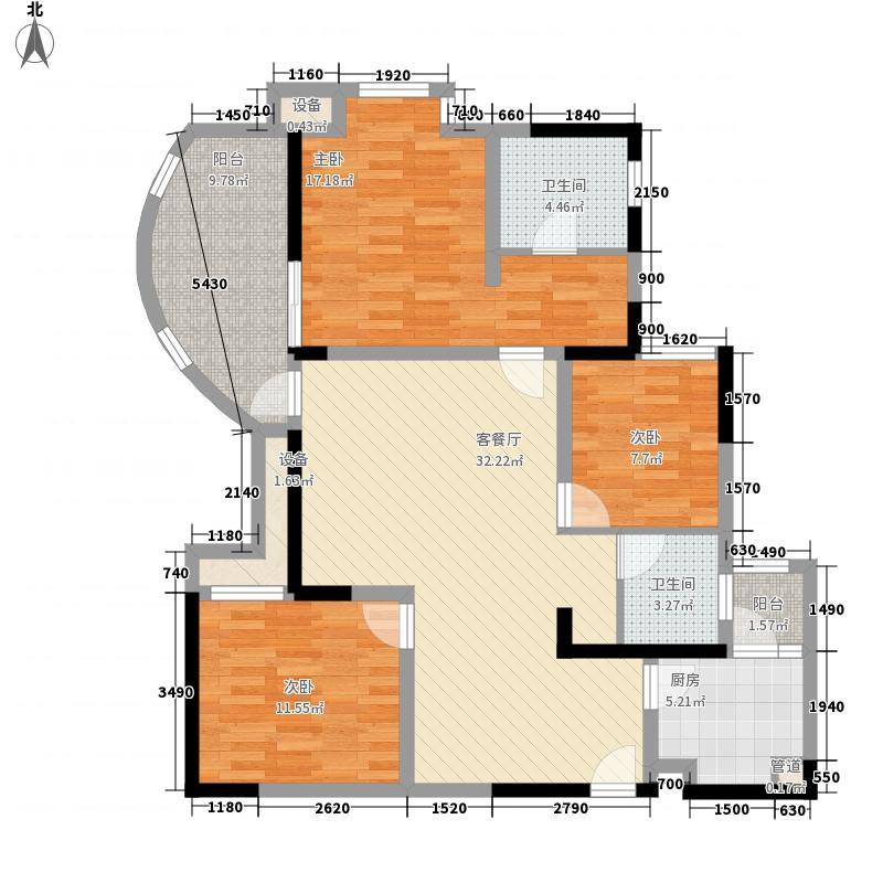 和贵・久居福114.00㎡E2b偶数层户型3室2厅2卫1厨