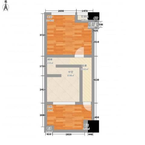 中茂世纪财富广场2室0厅0卫0厨53.00㎡户型图