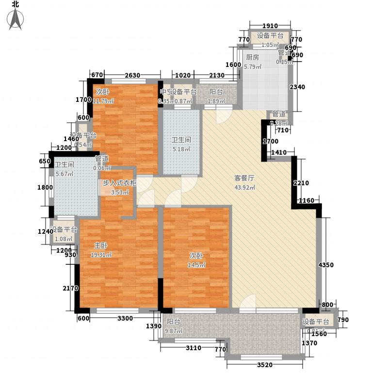 绿城蓝庭绿城蓝庭户型图C23室2厅2卫1厨户型3室2厅2卫1厨