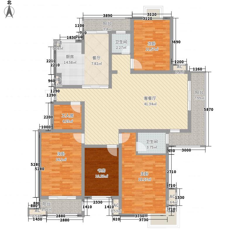 凯美怡和花园18.00㎡F户型4室2厅2卫1厨
