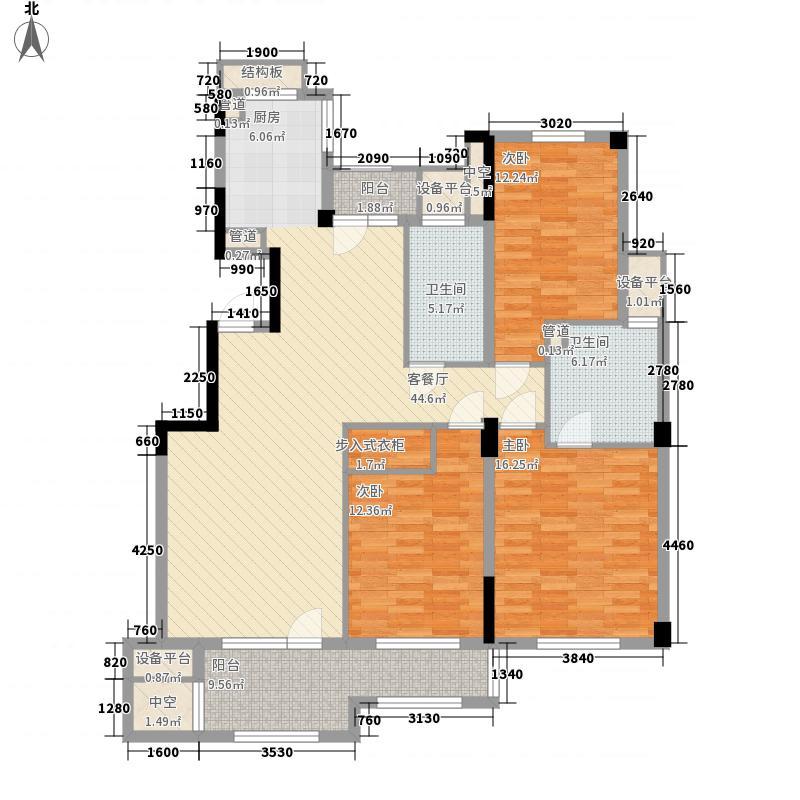 绿城蓝庭绿城蓝庭户型图C1-013室2厅2卫1厨户型3室2厅2卫1厨