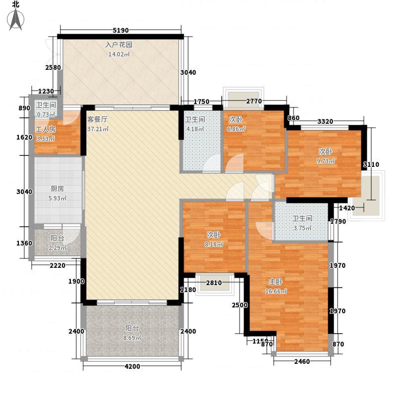 富通城二期133.70㎡E栋03奇数层户型4室2厅2卫1厨