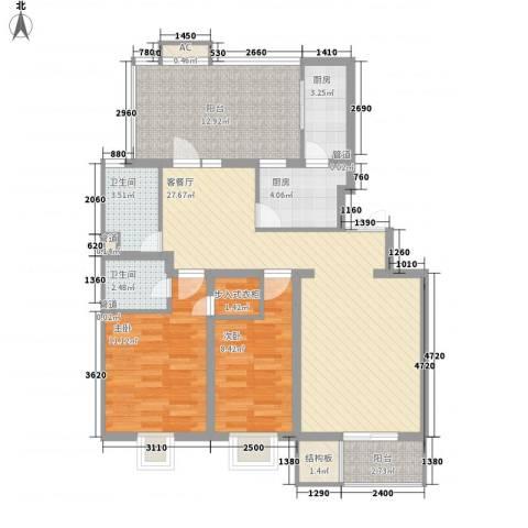 大宁山庄别墅2室1厅2卫2厨115.00㎡户型图