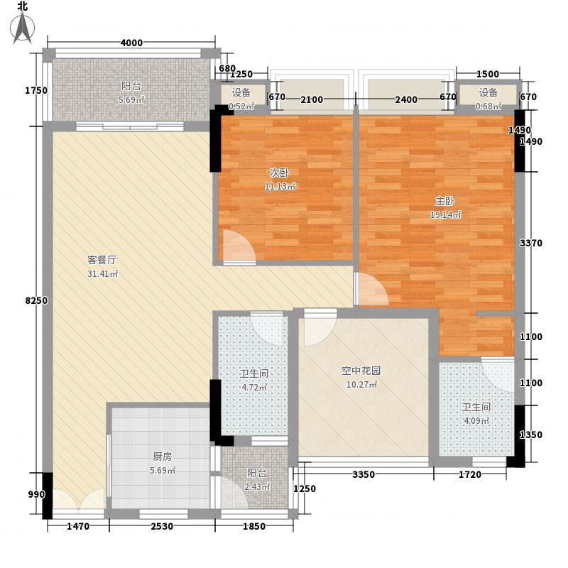 水岸珑庭112.83㎡12座01单元户型3室2厅2卫1厨