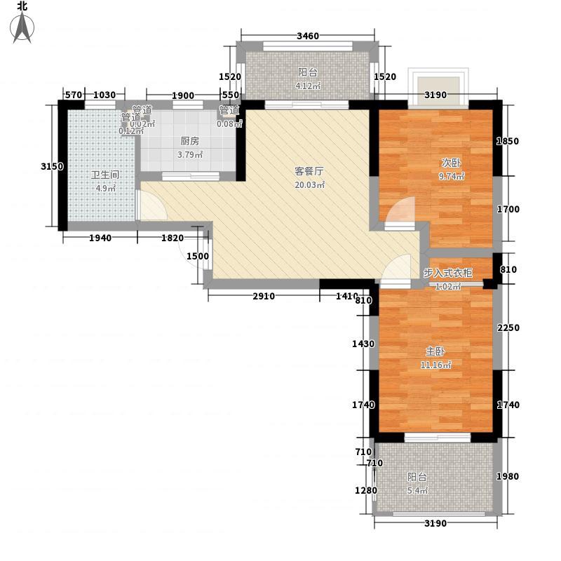 人生港湾南欧城二期89.10㎡A4户型2室1厅1卫1厨