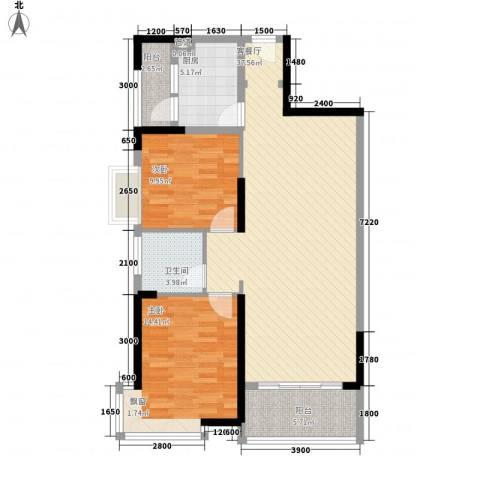 逸静园2室1厅1卫1厨113.00㎡户型图