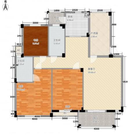 丰和新城二期3室1厅2卫1厨140.00㎡户型图