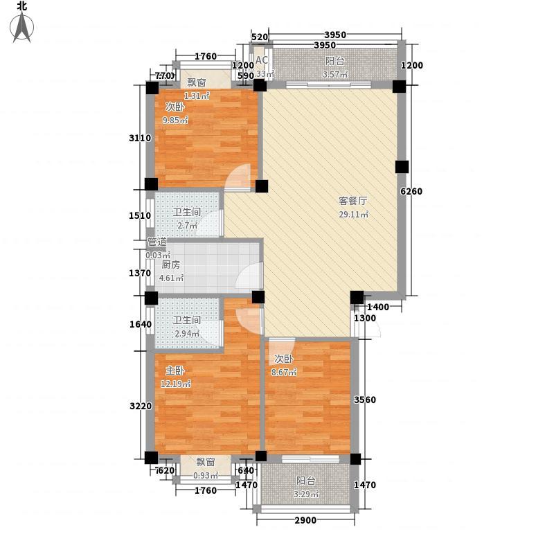 南国金辉110.03㎡南国金辉户型图3室2厅2卫1厨户型10室