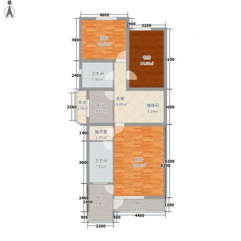 吉盛花园3室0厅2卫0厨142.00㎡户型图