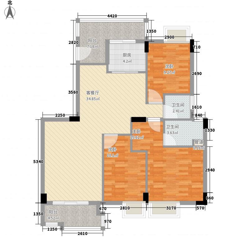 银汇华庭130.00㎡银汇华庭户型图D1栋01单元三房单位约130平米3室2厅2卫户型3室2厅2卫