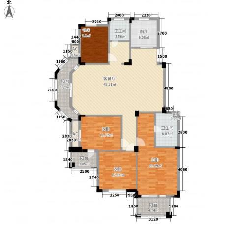 丰和新城二期4室1厅2卫1厨153.00㎡户型图