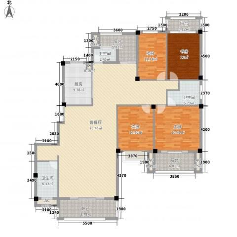 东源北院4室1厅3卫1厨196.00㎡户型图