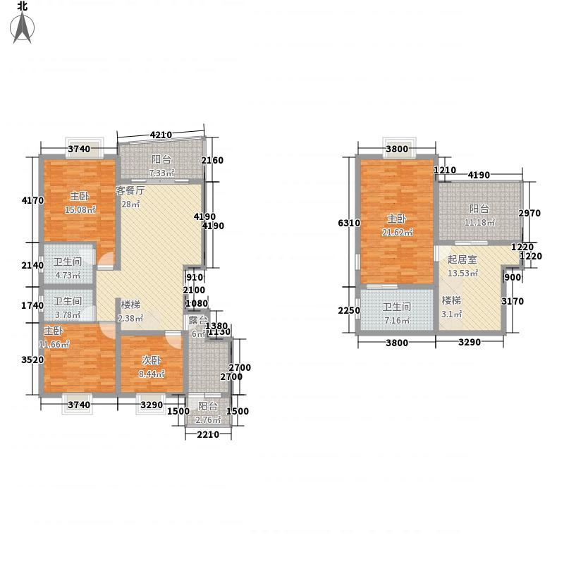 十里江南十里江南户型图B24室3厅3卫1厨户型4室3厅3卫1厨