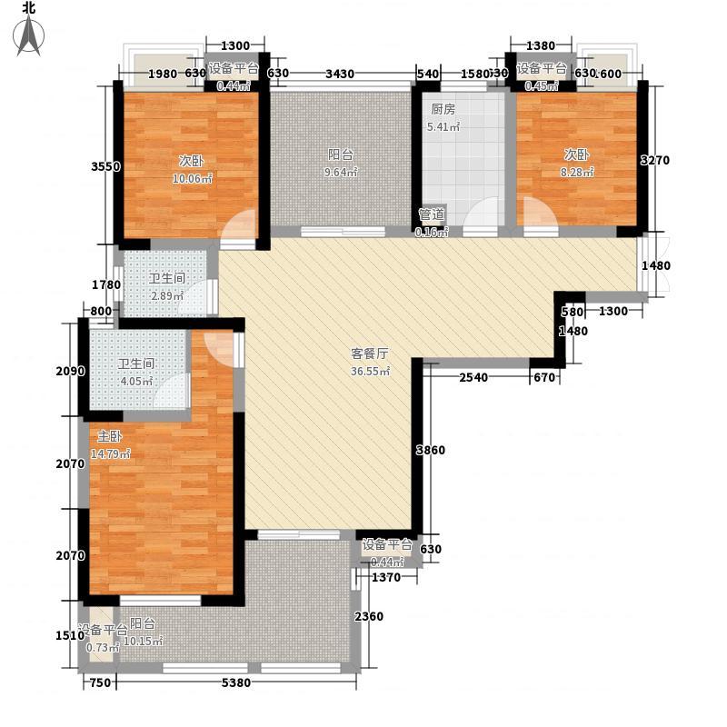 金盛家园93.00㎡金盛家园3室户型3室