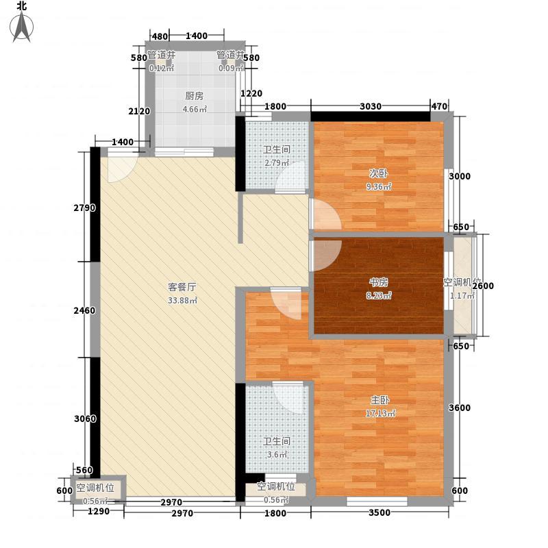 美的蓝溪谷18.30㎡5栋01户型3室2厅2卫1厨