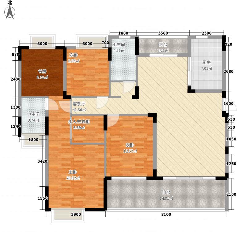 太阳湾151.37㎡太阳湾户型图27\28栋H户型4室2厅2卫1厨户型4室2厅2卫1厨