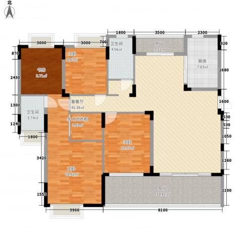 太阳湾3室1厅2卫1厨151.00㎡户型图