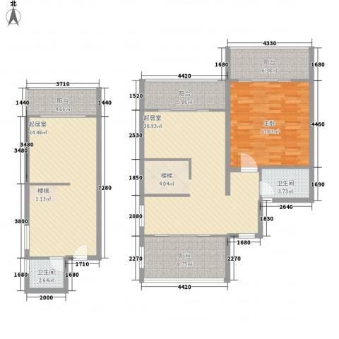 博鳌左岸1室0厅2卫0厨147.00㎡户型图
