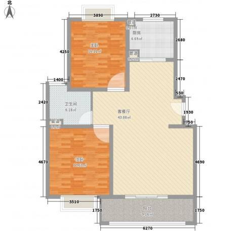 春晖路司法警官学校2室1厅1卫1厨145.00㎡户型图