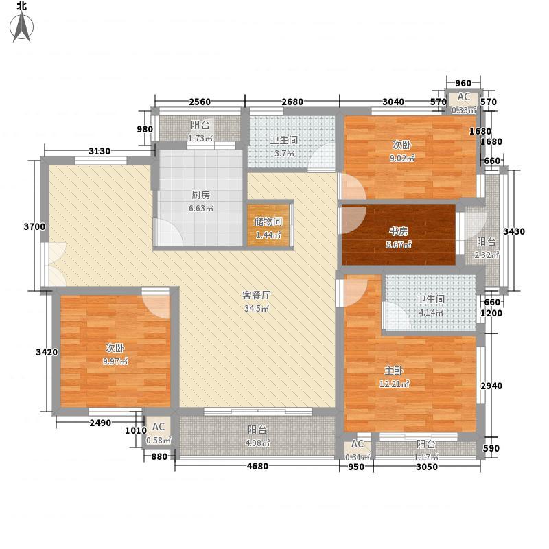 上海星港142.00㎡上海上海星港户型10室