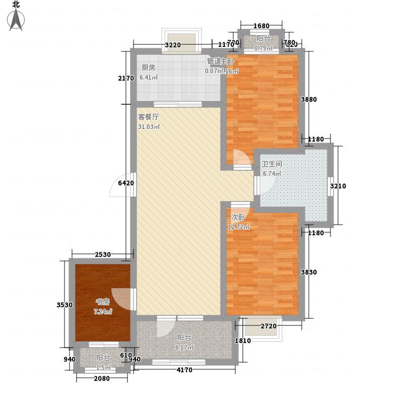 春田户型图太太的听山洋房A1户型 3室2厅1卫1厨
