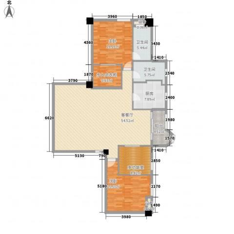静安艺庭2室1厅2卫1厨174.00㎡户型图