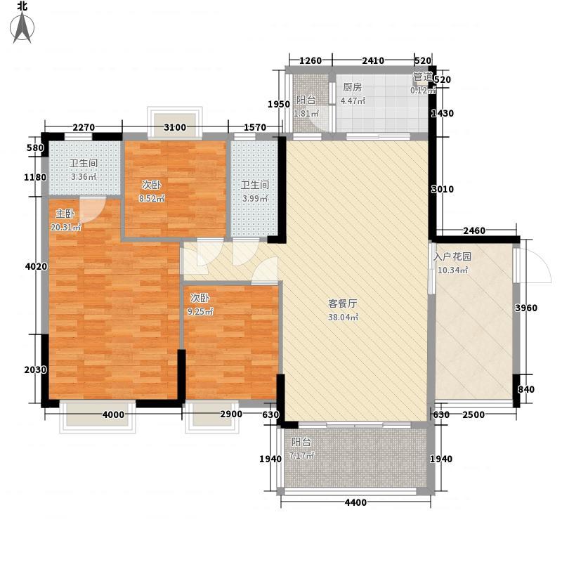 盛南新都127.59㎡盛南新都户型图11座03、04单位3室2厅2卫1厨户型3室2厅2卫1厨