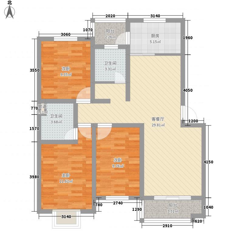 福海新居115.00㎡福海新居3室户型3室
