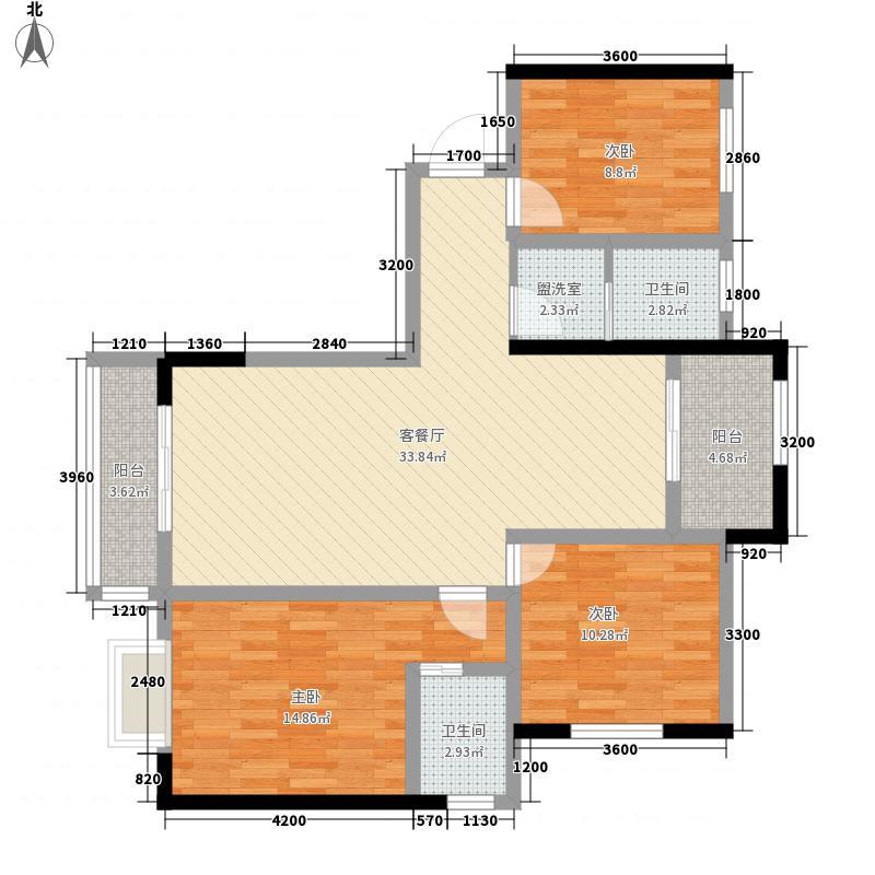 红古会展中心133.25㎡C户型2室2厅2卫1厨