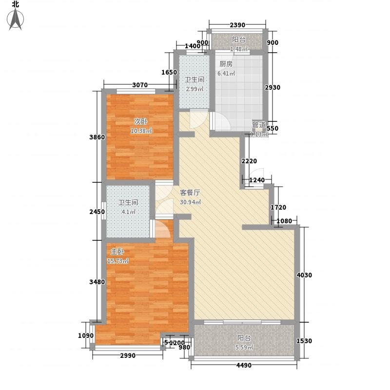 丹芳苑112.80㎡丹芳苑2室2厅2卫1厨户型2室2厅2卫1厨
