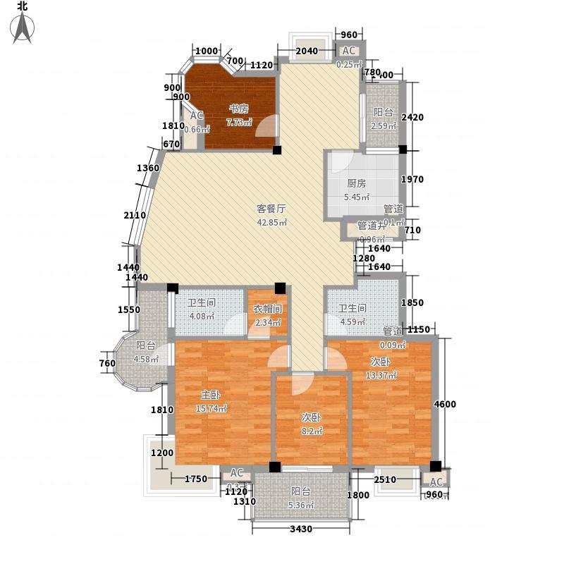 水印长天水印长天户型图4室2厅2卫1厨户型10室