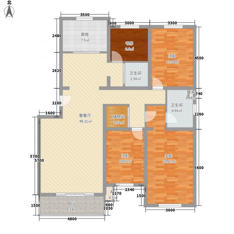 桥华世纪村户型5室2厅2卫1厨