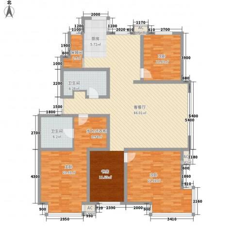 秋实e景二期3室1厅2卫0厨174.00㎡户型图