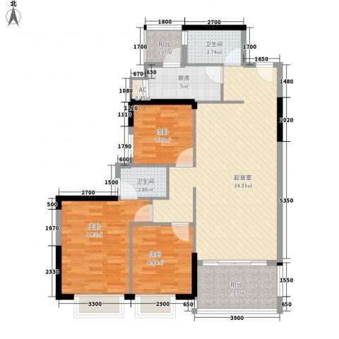 星城格调3室0厅2卫1厨114.00㎡户型图