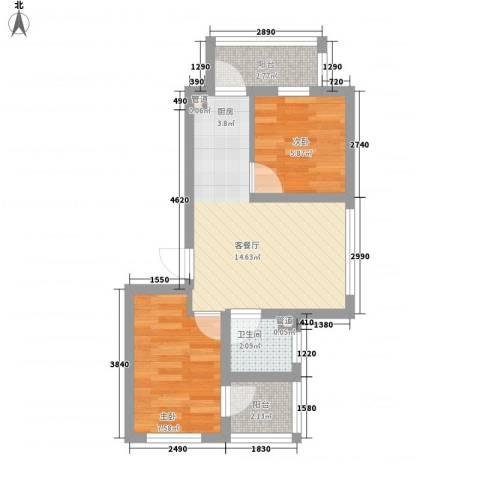 江尚逸品2室1厅1卫0厨58.00㎡户型图