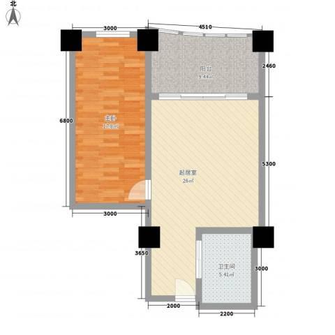 三亚湾海韵度假酒店1室0厅1卫0厨78.00㎡户型图