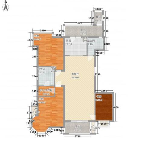 上实盛世江南3室1厅2卫1厨174.00㎡户型图