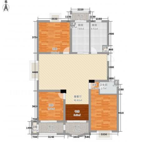 太湖花园三期3室1厅1卫2厨153.00㎡户型图