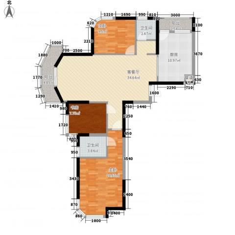 丰和新城二期3室1厅2卫1厨135.00㎡户型图