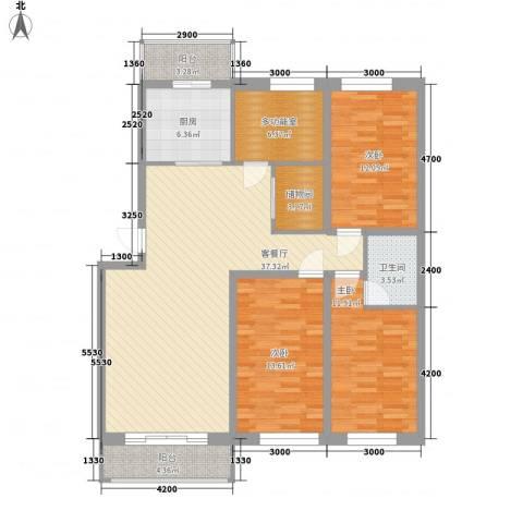 阳光御景3室1厅1卫1厨117.28㎡户型图