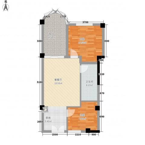 庄园丽都2室1厅1卫0厨69.00㎡户型图