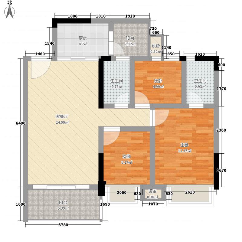 恒福新城97.00㎡恒福新城3室户型3室