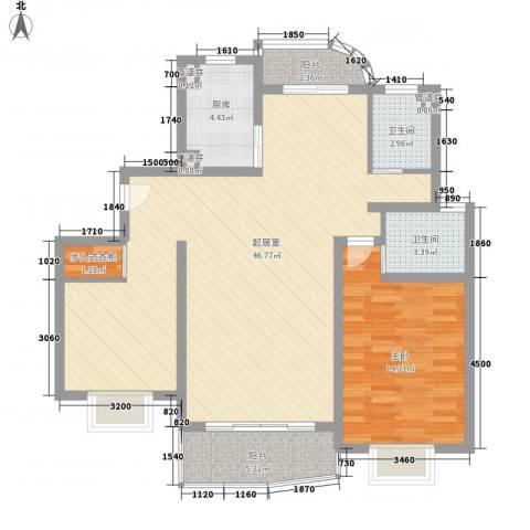 琨城帝景园1室0厅2卫1厨118.00㎡户型图