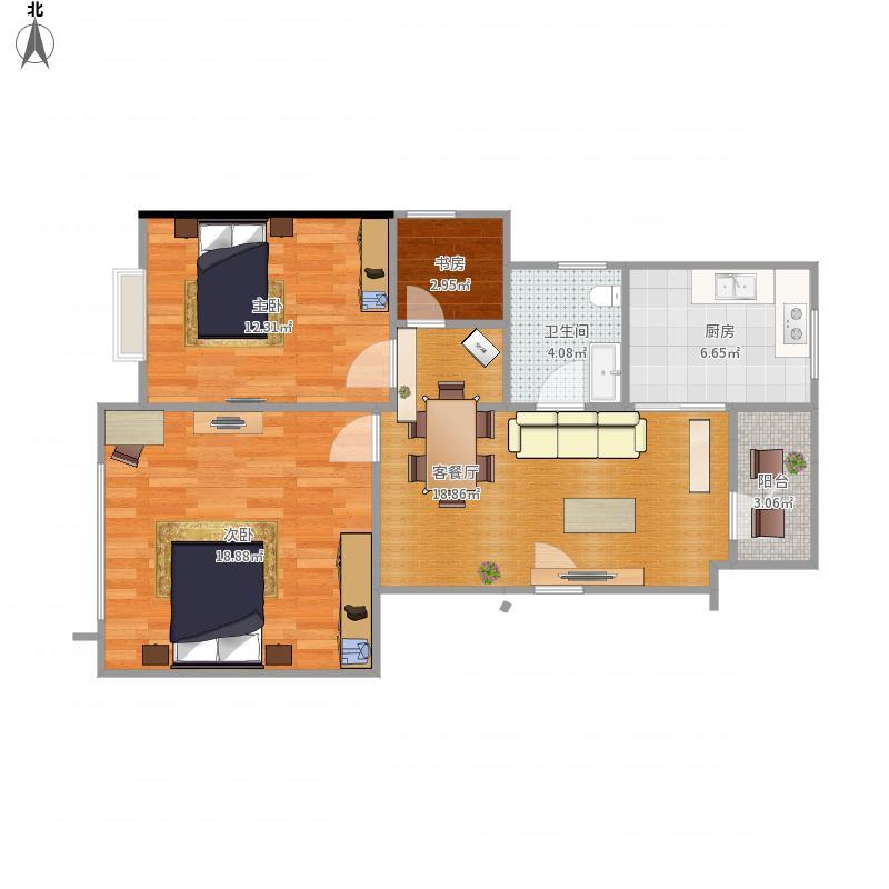 可可3室2厅
