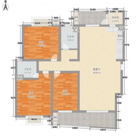 花都艺墅3室1厅2卫0厨169.00㎡户型图