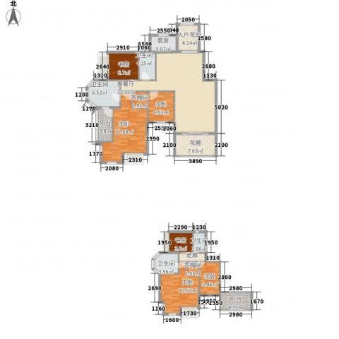 洪客隆地中海阳光6室1厅4卫1厨228.00㎡户型图