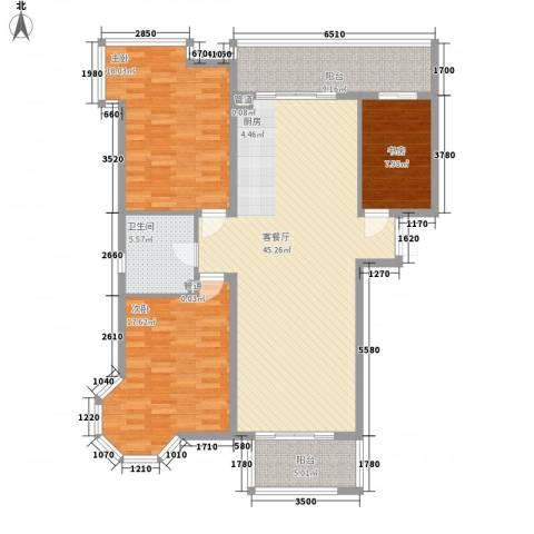 上实盛世江南3室1厅1卫0厨152.00㎡户型图